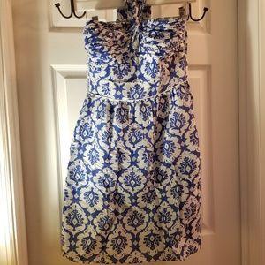 Laundry by Shelli Segal Sz 2 Cotton Silk Dress